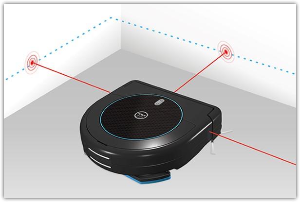 С помощью различных датчиков робот-пылесос может ориентироваться в помещении и распозновать преграды, встречающиеся на пути
