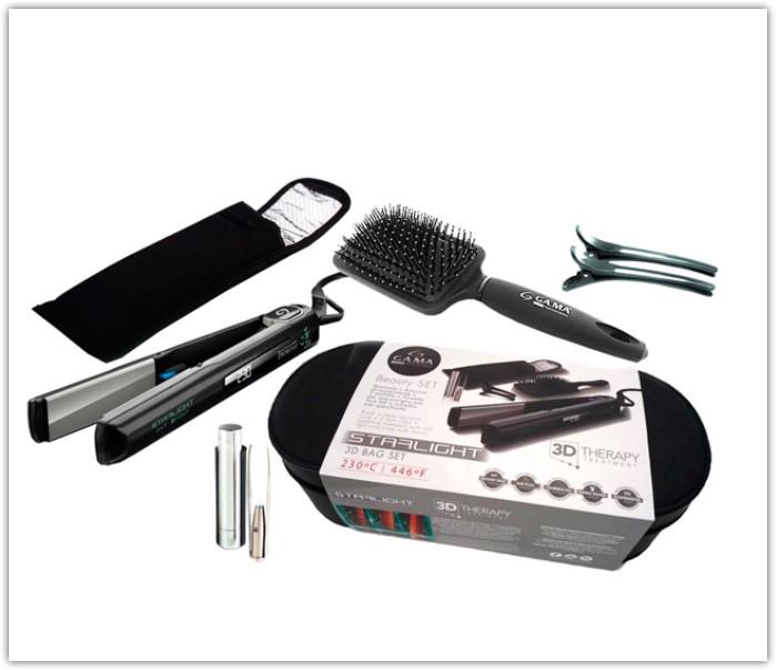 Выпрямитель волос GA.MA STARLIGHT DIG IHT 3 большой набор для укладки выпрямления и завивки волос