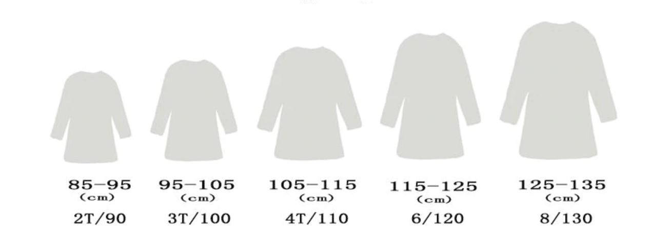 Размеры детских платьев на Алиэкспресс