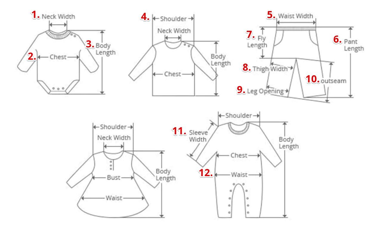 размеры детской одежды сша