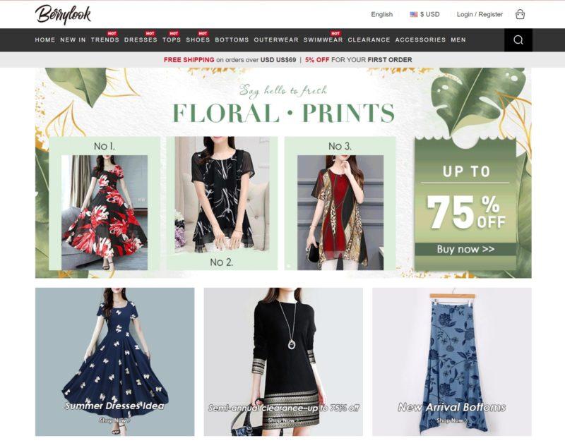 BerryLook женская одежда из китая лучшие китайские магазины по доступным ценам