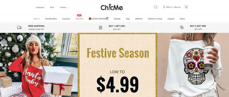 Chic Me китайский магазин женской одежды обуви аксессуаров