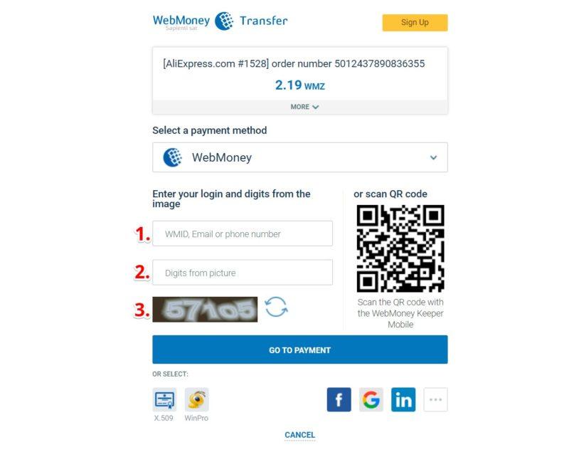 как оплатить алиэкспресс через вебмани в рублях?